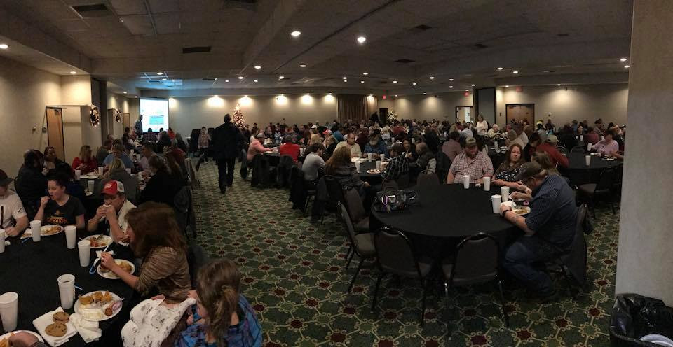 We had record attendance with almost 300 people including employees and their families gathering to celebrate the holiday season.