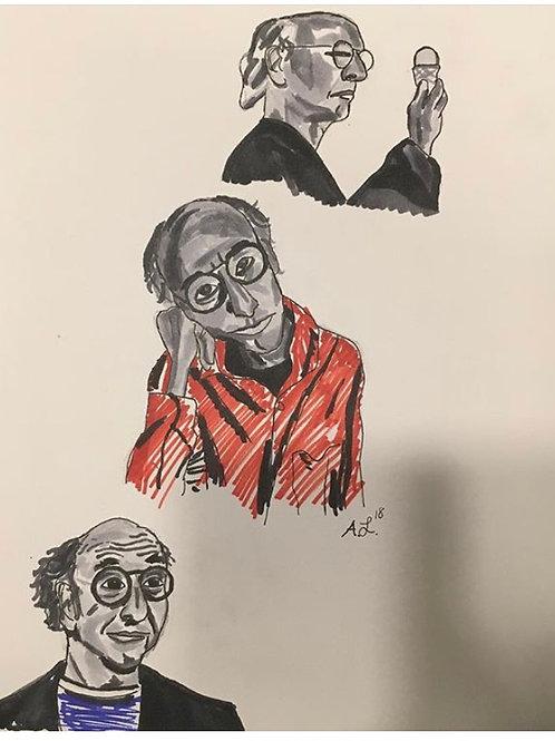 """Larry David"" print"