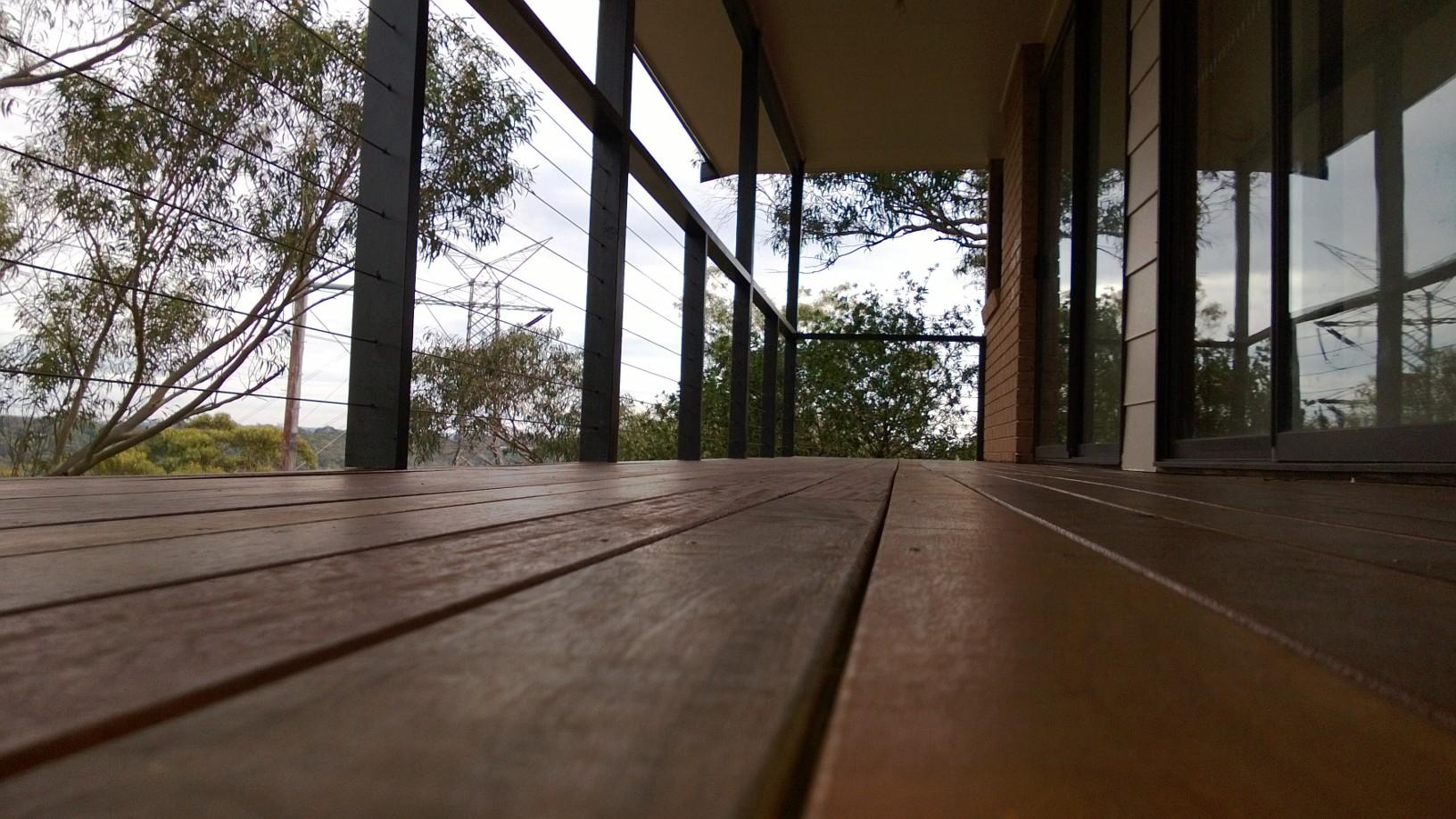 Hardwood Timber Deck Idea