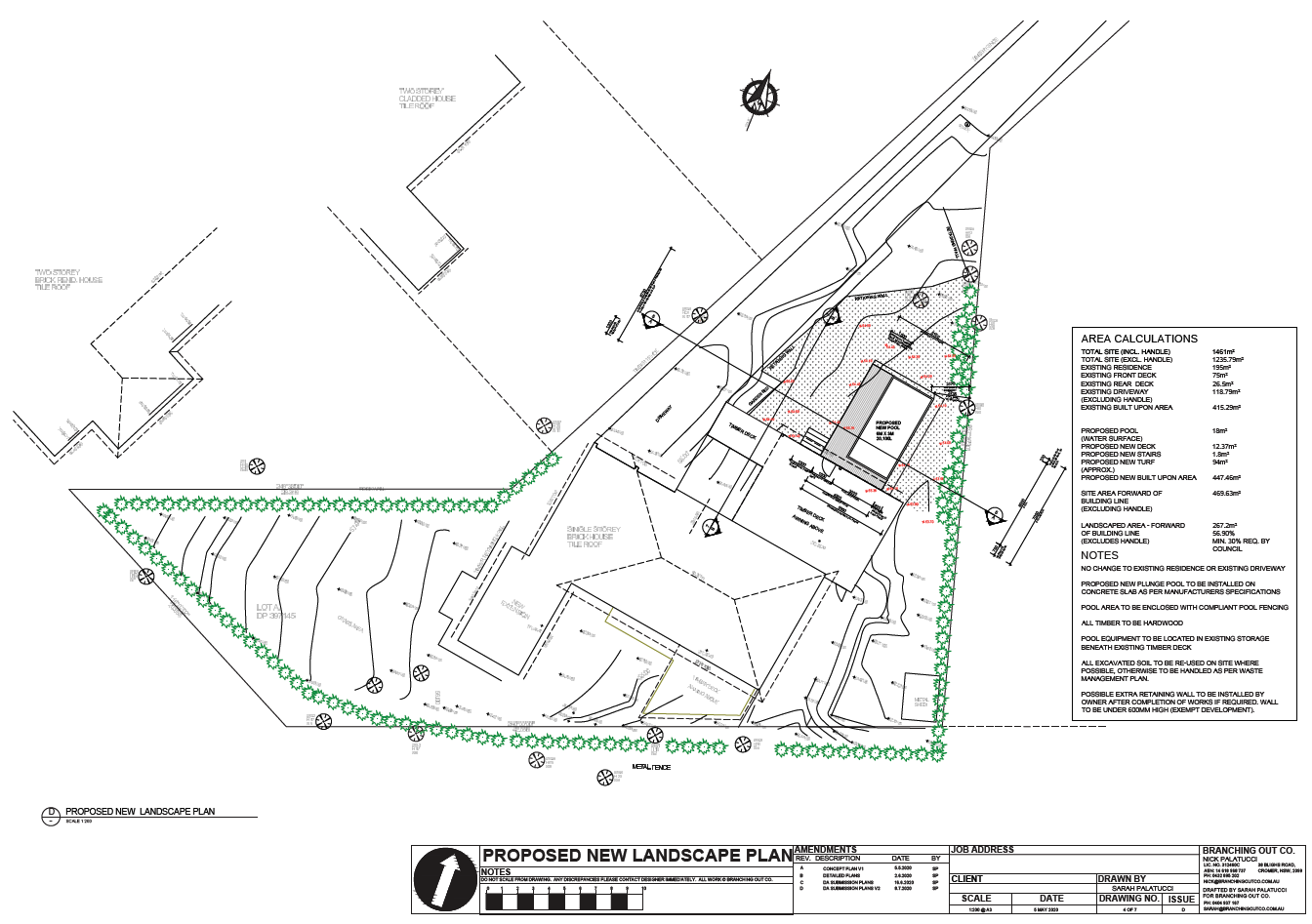 Landscape plan for DA submission