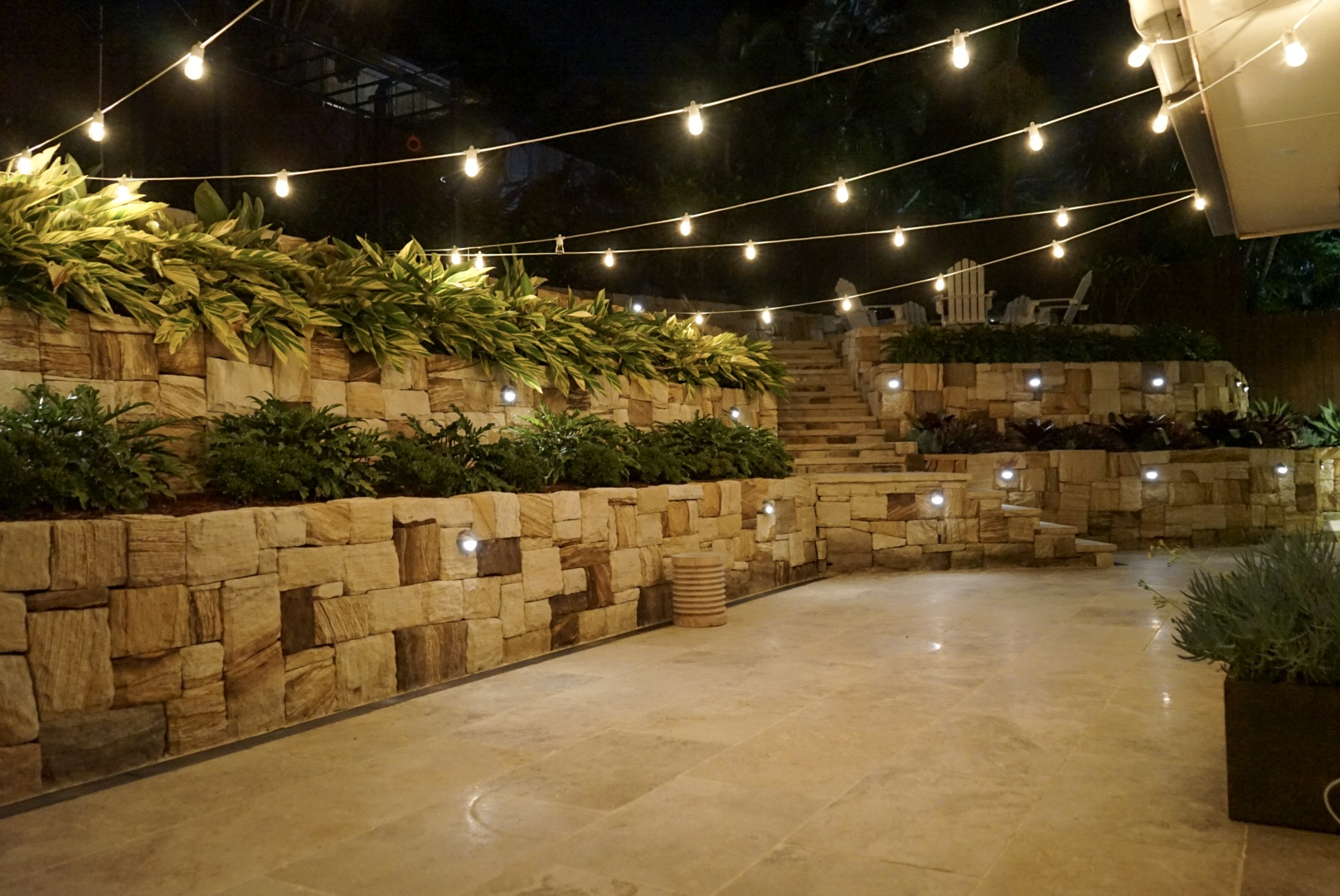 Travertine Pavers, Sandstone Walls