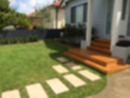 Branching out landscaping, northern beaches, sydney, paving, steppers, decking, turfing