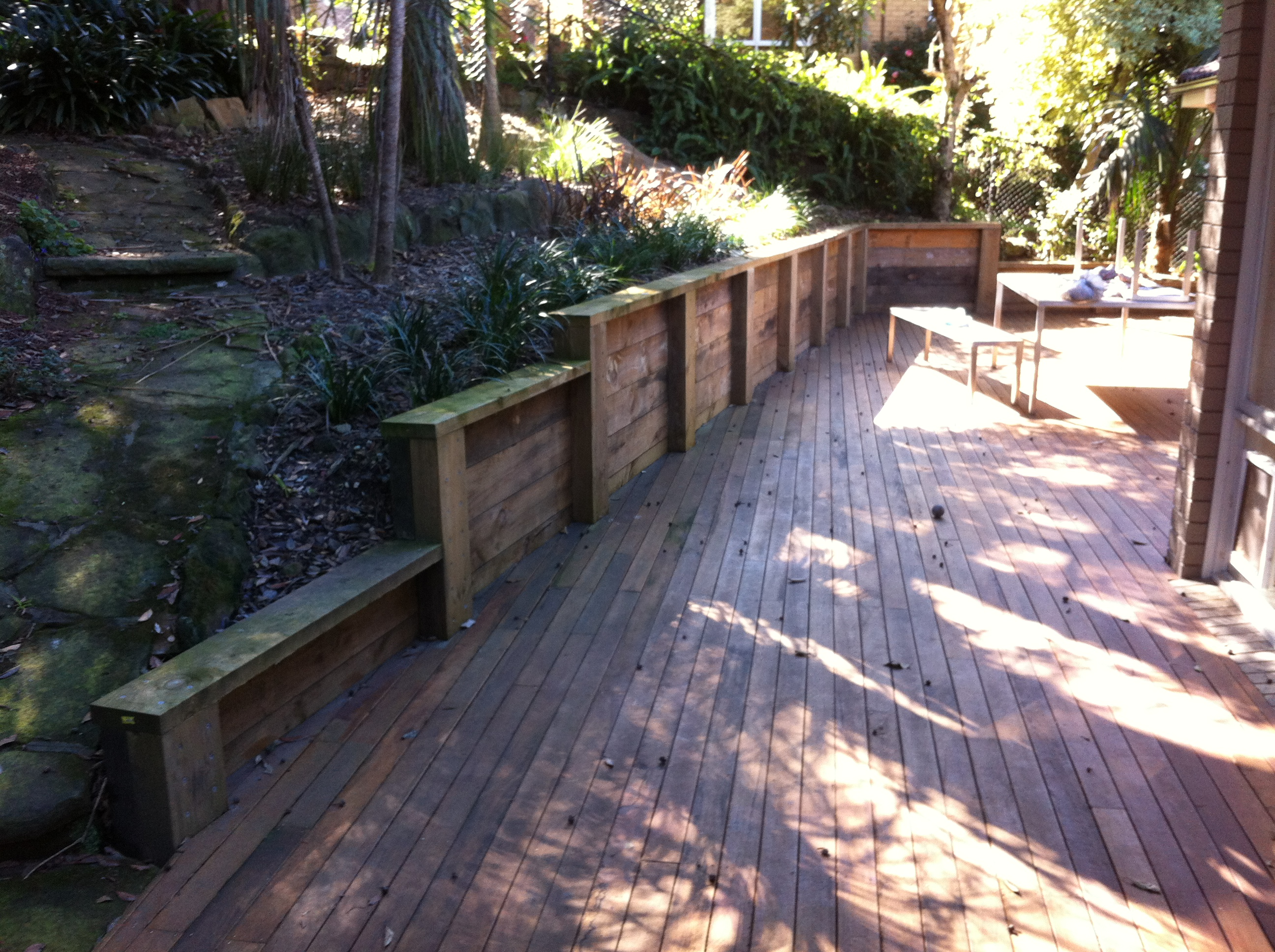 Timber Decking, Retaining Wall