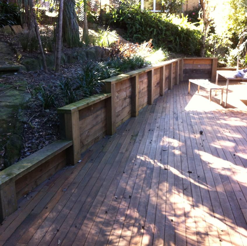 Treated Pine Sleeper Retaining Wall