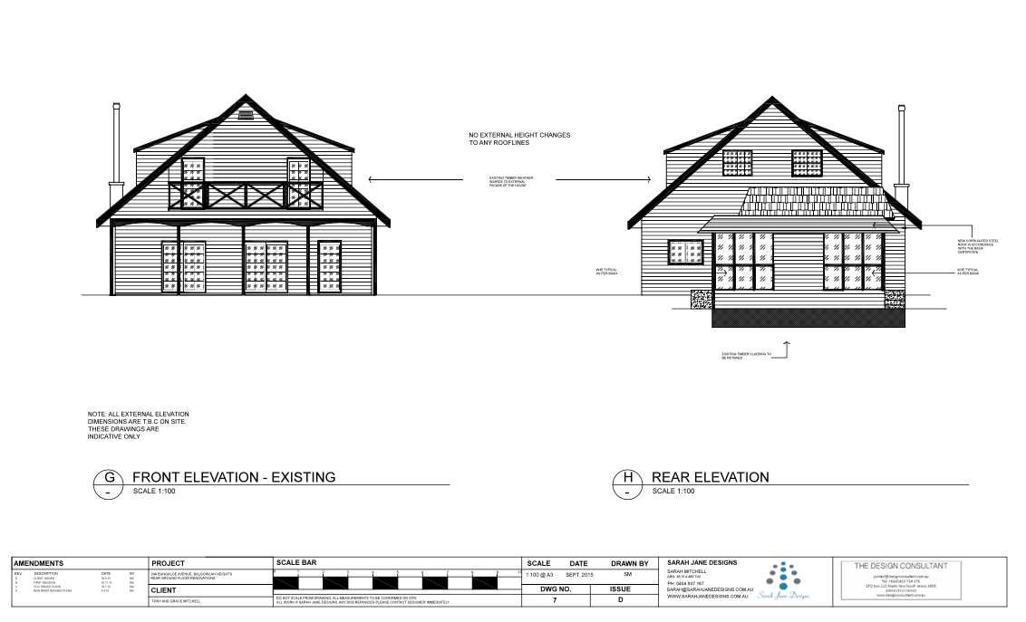 Residential Design - Elevations