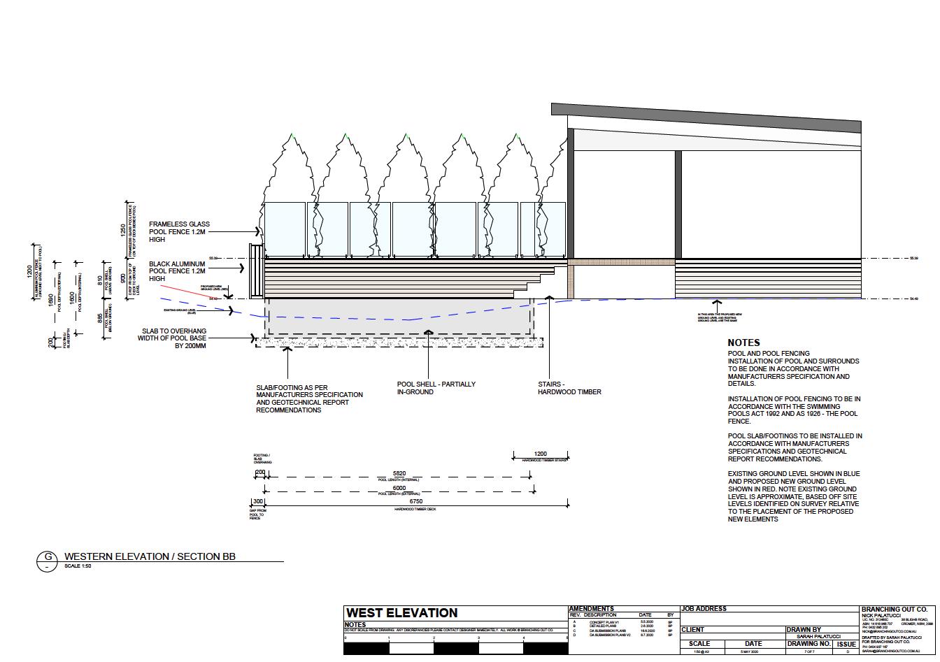 Elevation - Landscape Plan for DA submission