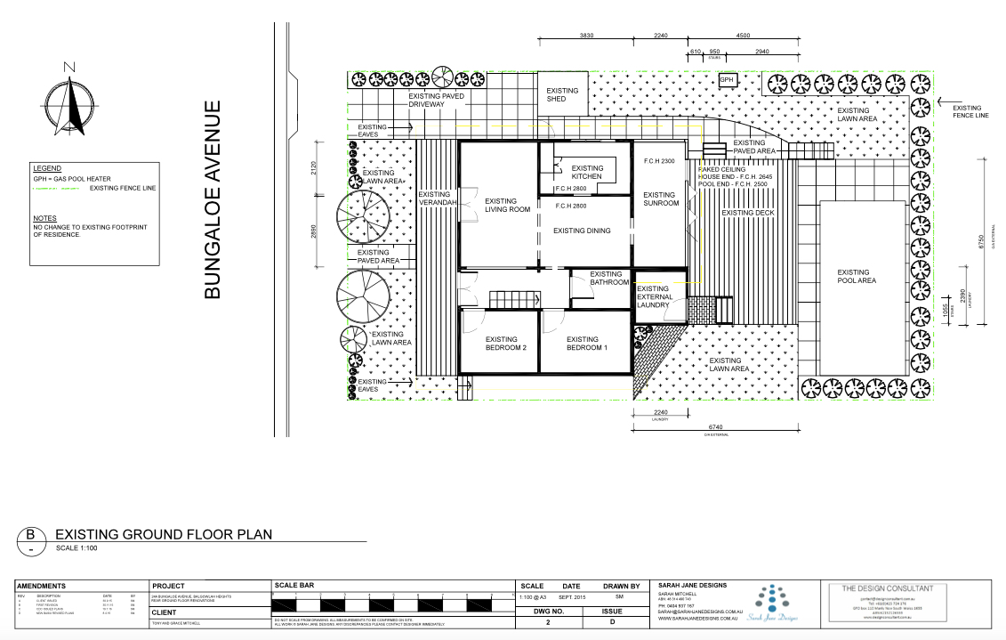 Residential Design - Existing Plan