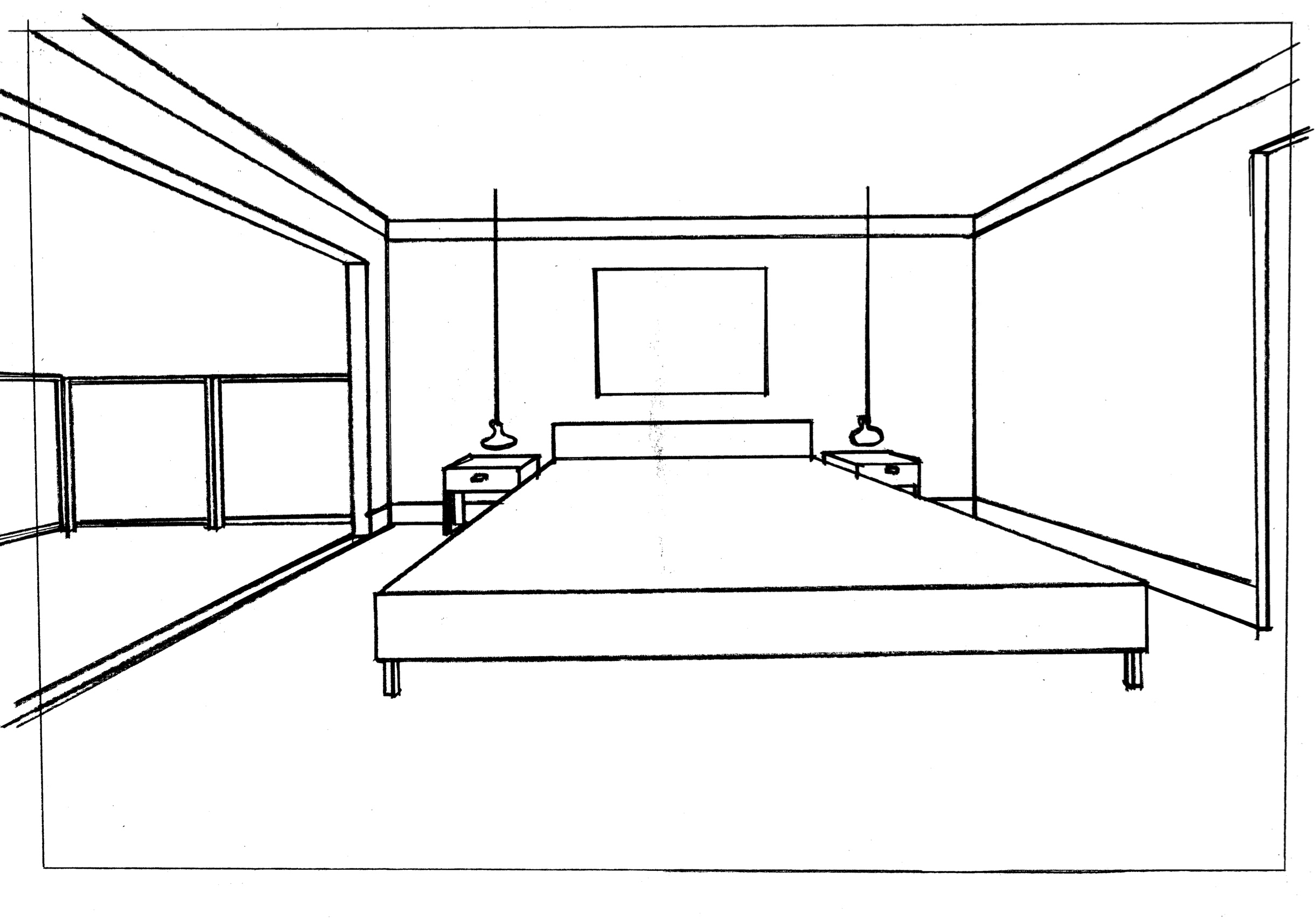 Perspective drawing - Before
