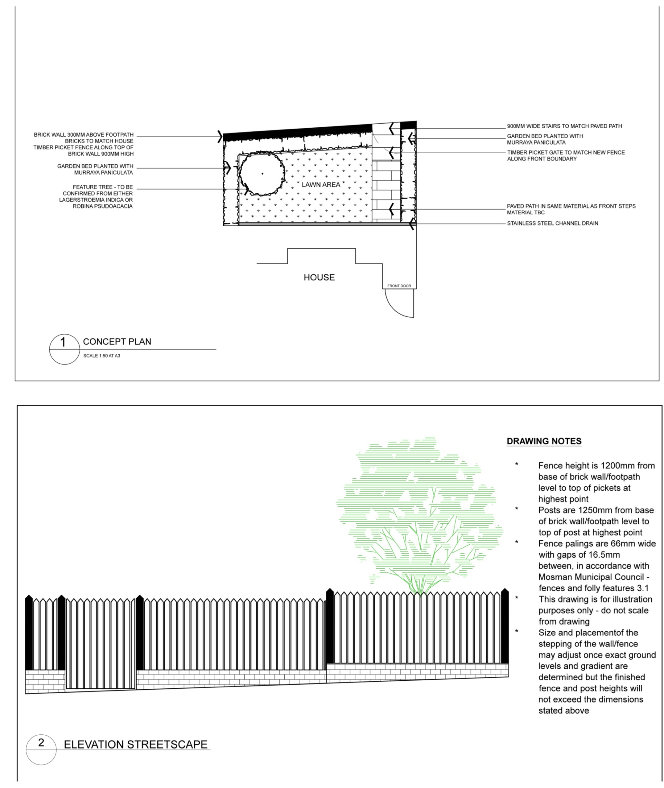 Landscape Design - Plan + Elevation