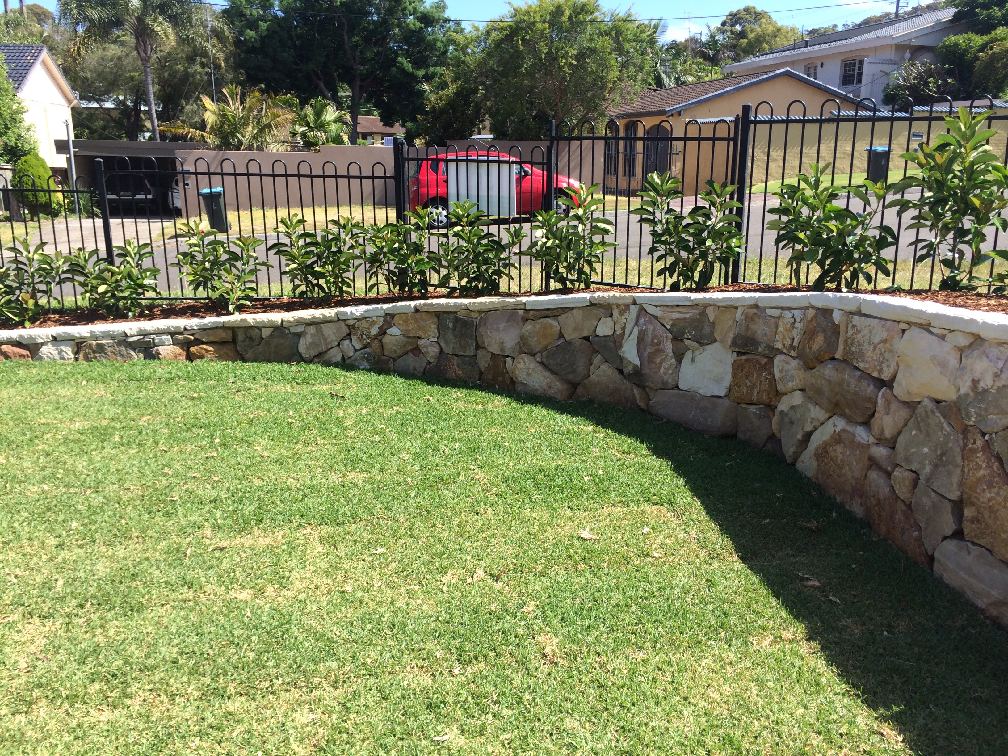 Drystack Stone Retaining Wall