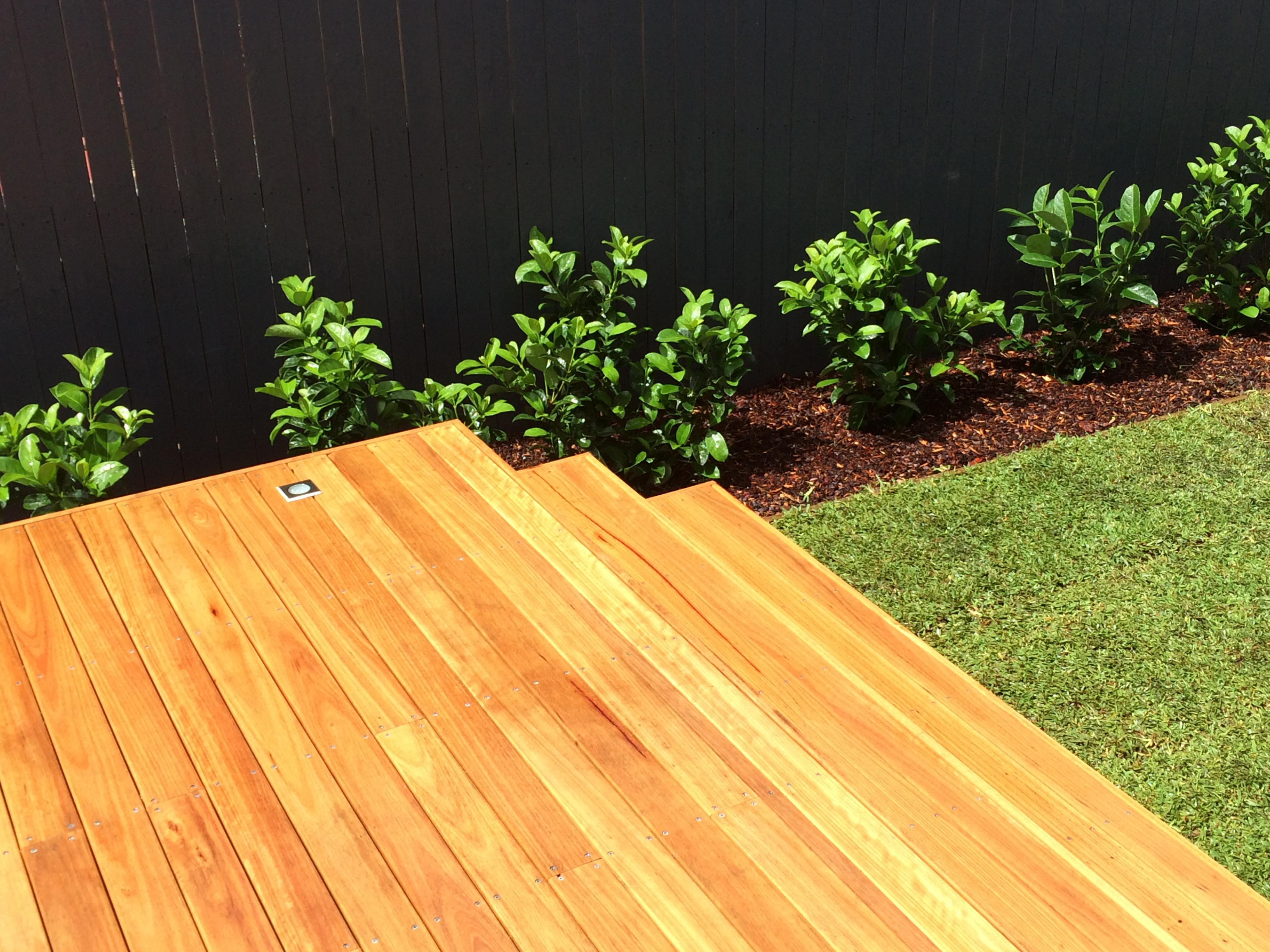Blackbutt Decking, Outdoor Lighting