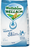 WellshineWELLSON instant skim milk powder. Best milk low in fat of dairy Australia