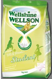 WellshineWELLSON instant student fortified whole full cream milk powder. Best milk full cream dairy Australia. Milk fortified with vitamins and DHA