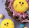 Cupcakes made to look like little chicks for Easter. Milk powder uses