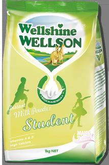 Instant student milk powder 1kg Wellshine Wellson Dairy Australia