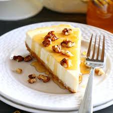 Honey and Yoghurt Cheesecake made with milk powder. Recipe milk powder