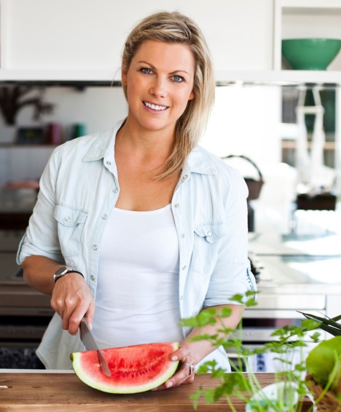 Nutritionist Skye Swaney from Sydney Australia in the kitchen