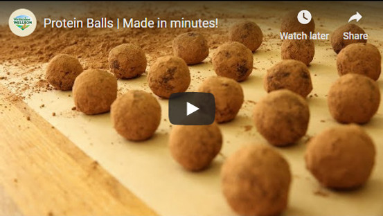 Energy Filled Protein Balls. Snack the healthy way. Recipe by Wellshine Wellson Dairy Australia