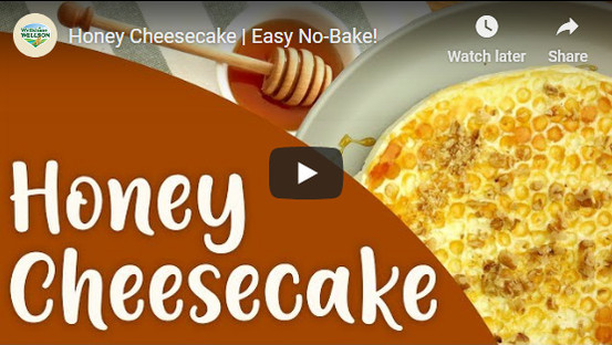 Recipes using Milk Powder. Honey and Cheesecake recipe. Less sugar, more delicious and healthy