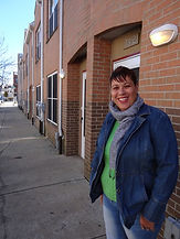 WCRP Tenant Outside Her Home