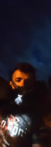 Mehmet Topyürek, Baumstamm Training Nacht