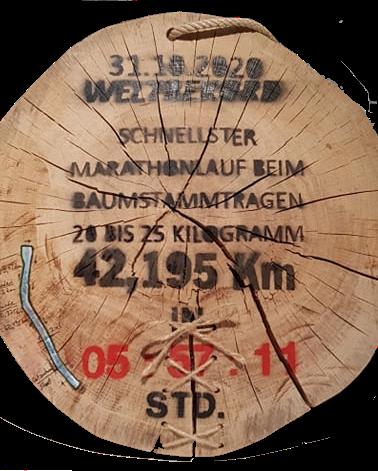 Weltrekord Sieg Schale