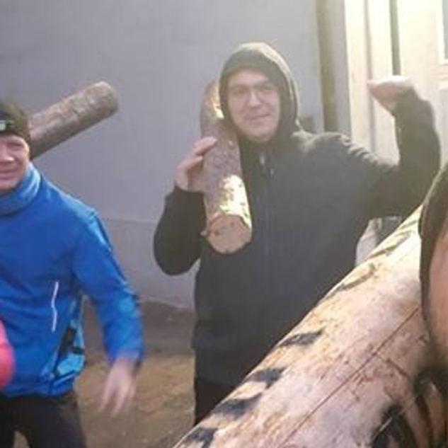 3.Baumstammtraining mit Kriechen.