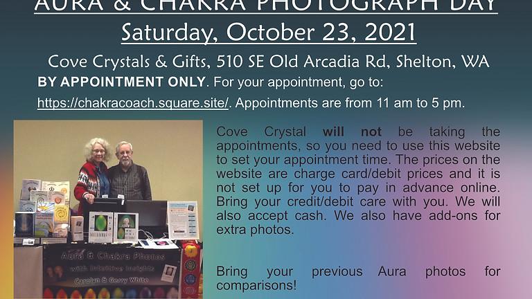 Aura & Chakra Photos at Cove Crystal Shelton WA
