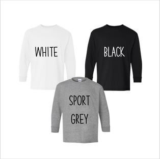 Youth Long Sleeve, Neutrals