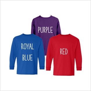 Youth Long Sleeve, Colors