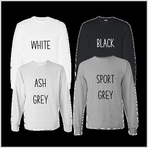 Adult Unisex Long Sleeve Shirt, Neutrals