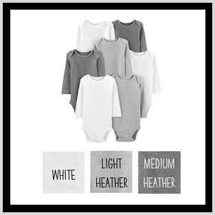 Carter's Long Sleeve Bodysuit, Neutrals