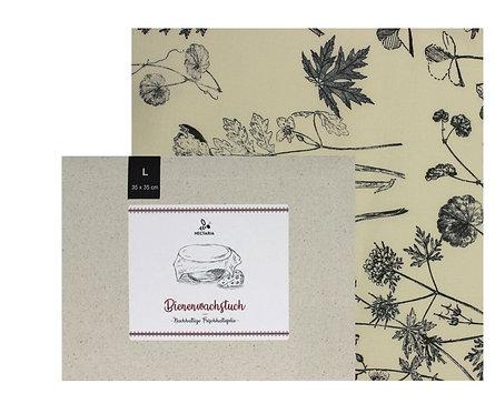 """Bienenwachstuch """"L"""" (35x35 cm - Black & White)"""