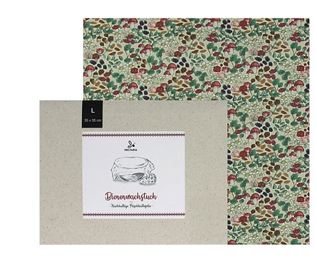 """Bienenwachstuch """"L"""" (35x35 cm - Pilze)"""