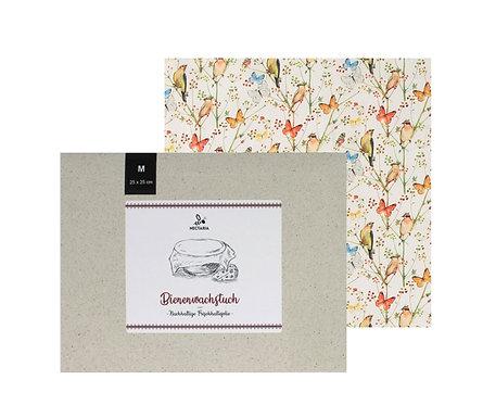 """Bienenwachstuch """"M"""" (25x25 cm - Natur)"""