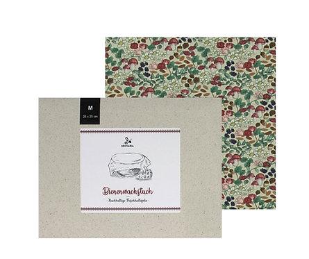 """Bienenwachstuch """"M"""" (25x25 cm - Pilze)"""