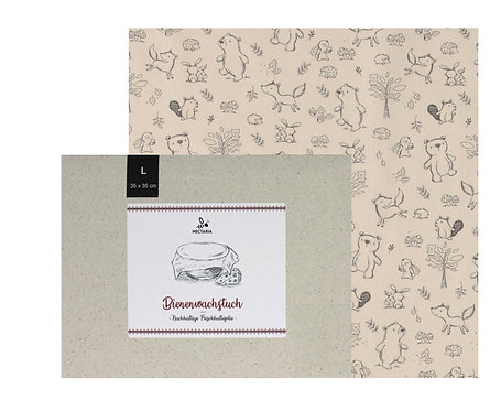 """Bienenwachstuch """"L"""" (35x35 cm - Kids)"""