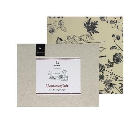 """Bienenwachstuch """"M"""" (25x25 cm - Black & White)"""