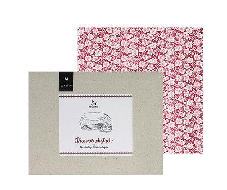 """Bienenwachstuch """"M"""" (25x25 cm - Rosen)"""