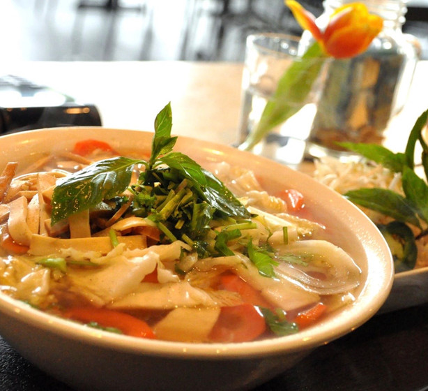 Veggie Tofu Pho soup