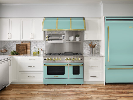 BlueStar debuts 2021 color of the year for kitchen appliances: Light aqua green