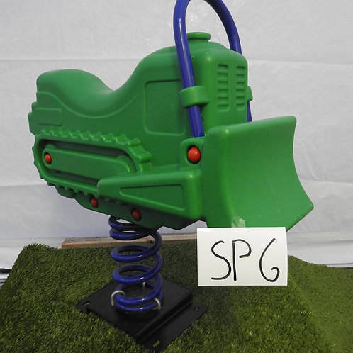 Green Bulldozer Spring Rocker