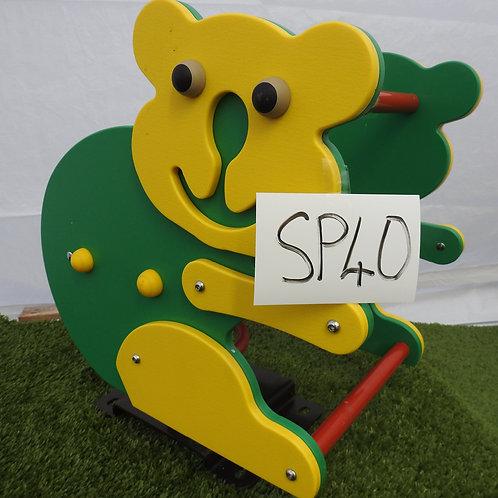 Green and Yellow Bear Spring Rocker