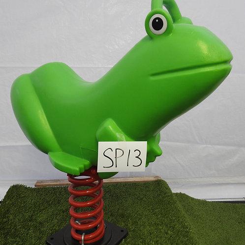 Green Frog Spring Rocker