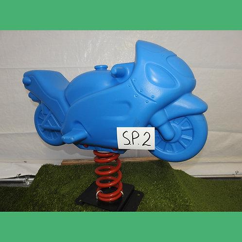Blue Motorbike Spring Rocker