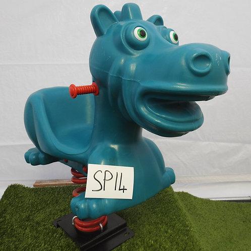 Blue Hippo Spring Rocker