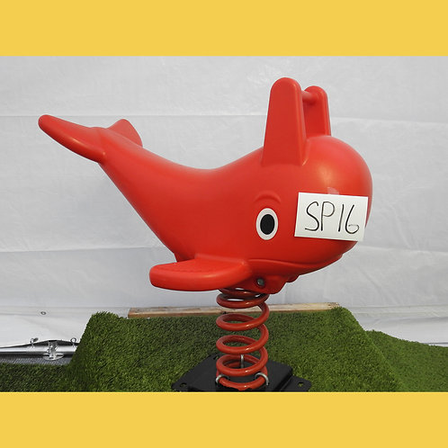 Red Dolphin Spring Rocker
