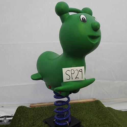 Green Bear Spring Rocker