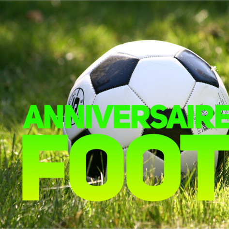 anniversaire foot soccer