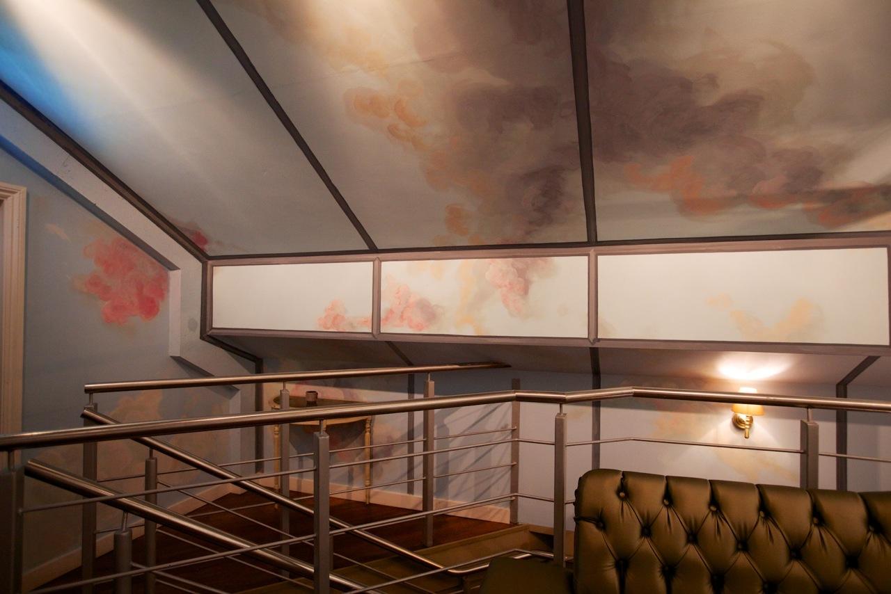 Romantic sky 'Library Restaurant'